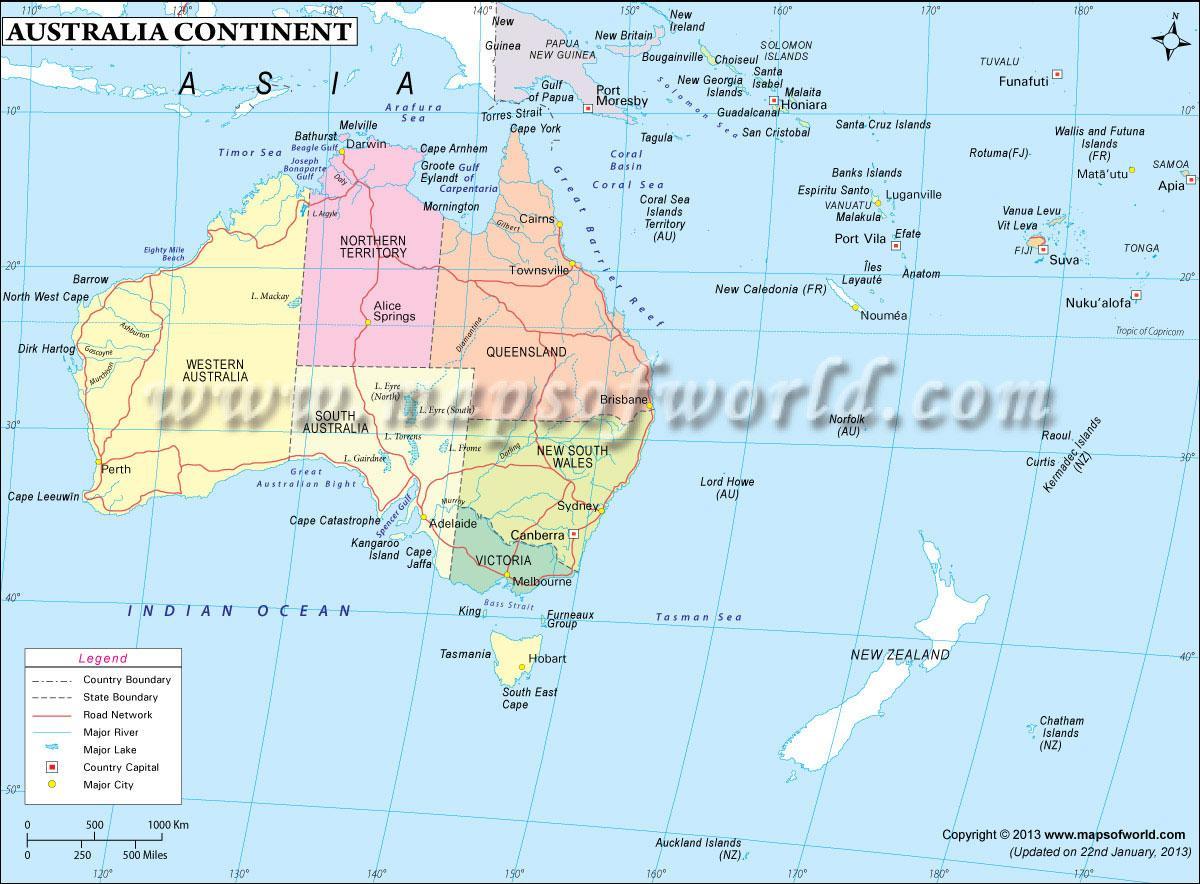 Australian Mantereen Kartta Kartta Australian Mantereen