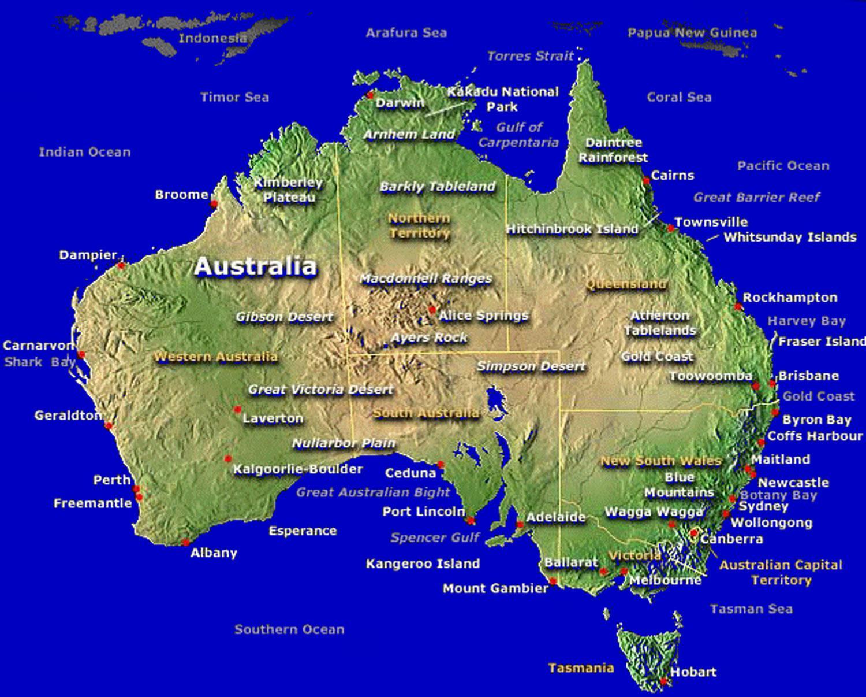 Australian Viini Kartta Kartta Australian Kartta Australia Ja
