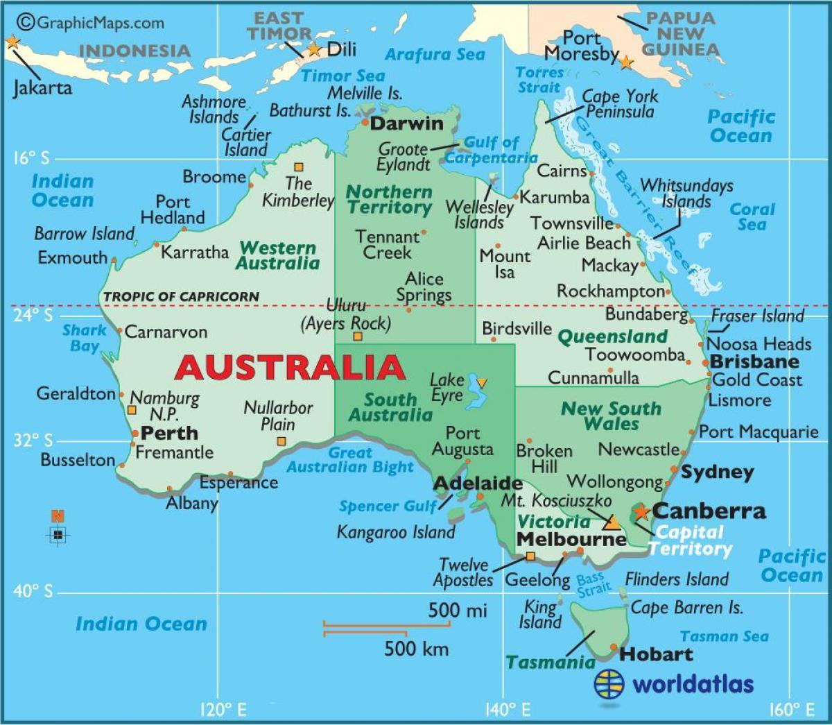 Australian Kartta Australia Kartalla Australia Ja Uusi